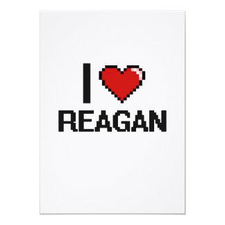 I Love Reagan Digital Retro Design 13 Cm X 18 Cm Invitation Card