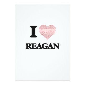 I love Reagan (heart made from words) design 13 Cm X 18 Cm Invitation Card