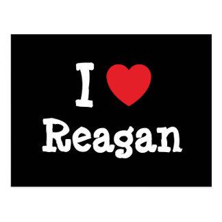 I love Reagan heart T-Shirt Post Cards