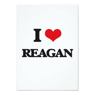 "I Love Reagan 5"" X 7"" Invitation Card"