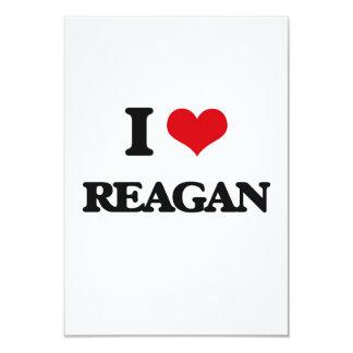 "I Love Reagan 3.5"" X 5"" Invitation Card"