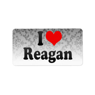 I love Reagan Address Label