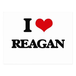 I Love Reagan Postcard
