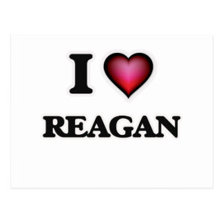 I Love Reagan Postcard