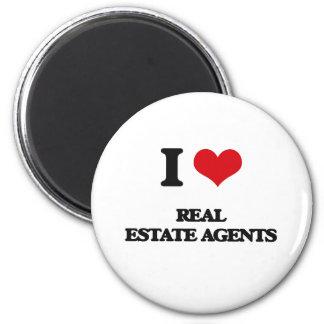 I love Real Estate Agents Fridge Magnet