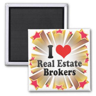 I Love Real Estate Brokers Fridge Magnets