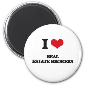 I love Real Estate Brokers Refrigerator Magnets