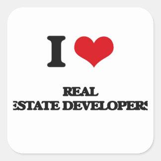I love Real Estate Developers Sticker
