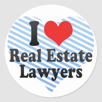 I Love Real Estate Lawyers Round Sticker
