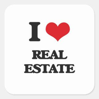 I Love Real Estate Square Sticker
