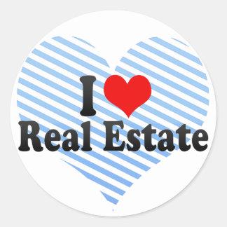 I Love Real Estate Sticker