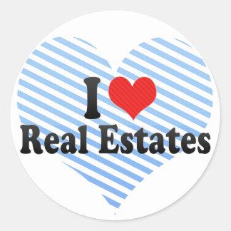 I Love Real Estates Round Sticker