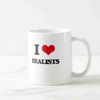 I Love Realists Basic White Mug