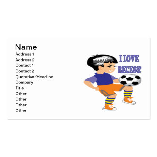 I Love Recess Double-Sided Standard Business Cards (Pack Of 100)