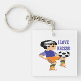 I Love Recess Acrylic Keychain