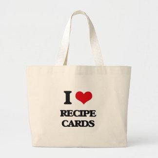I Love Recipe Cards Canvas Bag