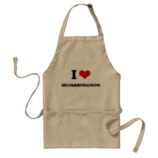 I Love Recommendations Standard Apron