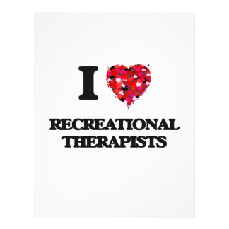I love Recreational Therapists 21.5 Cm X 28 Cm Flyer