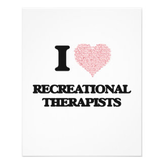 I love Recreational Therapists (Heart made from wo 11.5 Cm X 14 Cm Flyer