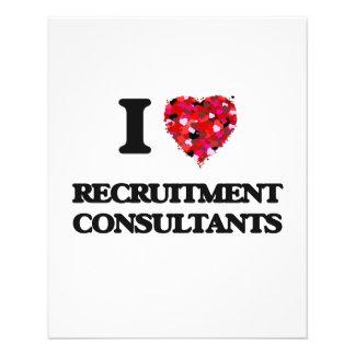 "I love Recruitment Consultants 4.5"" X 5.6"" Flyer"