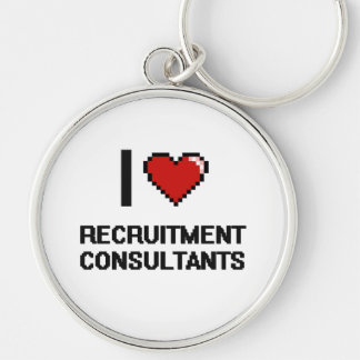 I love Recruitment Consultants Silver-Colored Round Key Ring