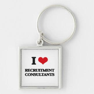 I love Recruitment Consultants Keychain