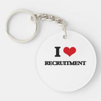 I Love Recruitment Single-Sided Round Acrylic Keychain
