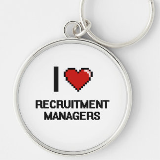 I love Recruitment Managers Silver-Colored Round Key Ring