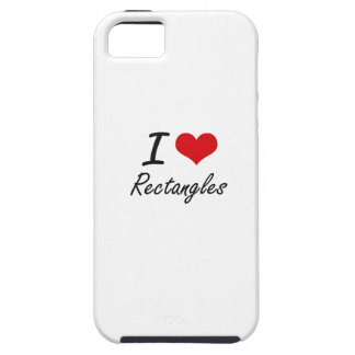 I Love Rectangles iPhone 5 Case