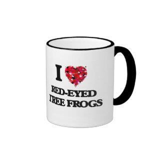 I love Red-Eyed Tree Frogs Ringer Mug