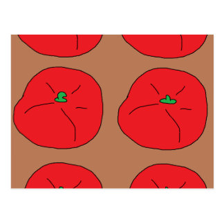 i love red juicy tomatoes postcard