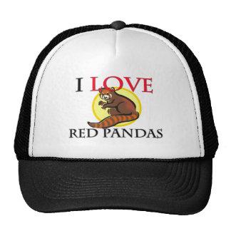 I Love Red Pandas Mesh Hats