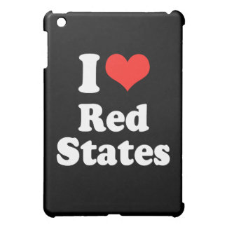 I LOVE RED STATES png Case For The iPad Mini