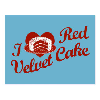 I Love Red Velvet Cake Postcard
