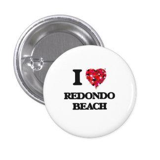 I love Redondo Beach California 3 Cm Round Badge