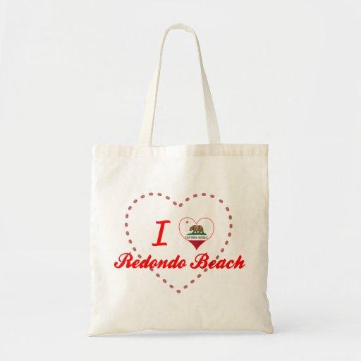 I Love Redondo Beach, California Canvas Bag