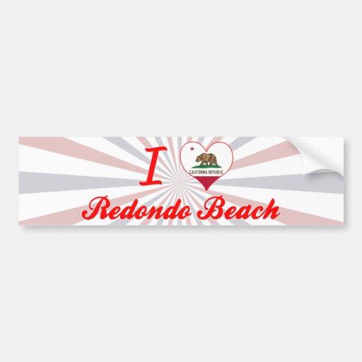 I Love Redondo Beach, California Bumper Sticker