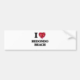 I love Redondo Beach California Bumper Sticker