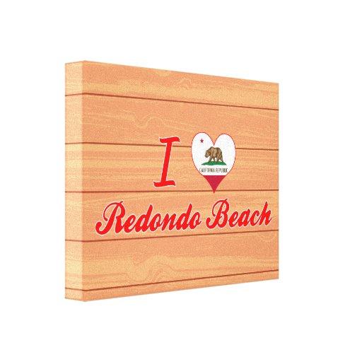I Love Redondo Beach, California Gallery Wrapped Canvas