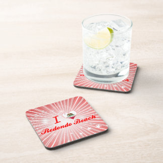 I Love Redondo Beach, California Drink Coasters
