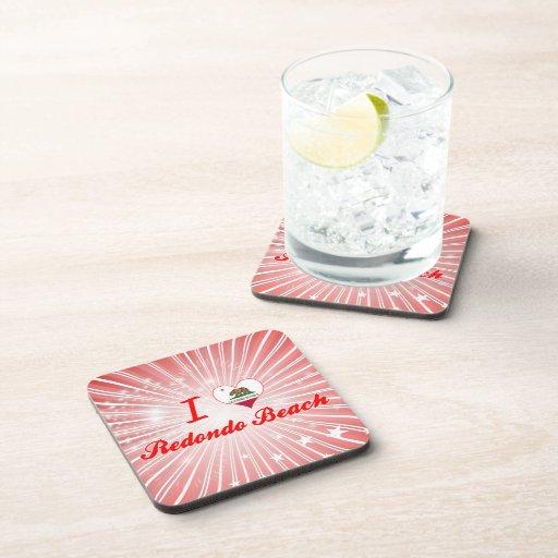 I Love Redondo Beach, California Drink Coasters