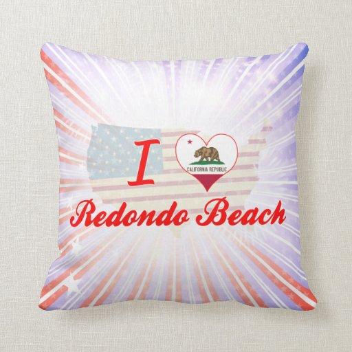 I Love Redondo Beach, California Throw Pillow