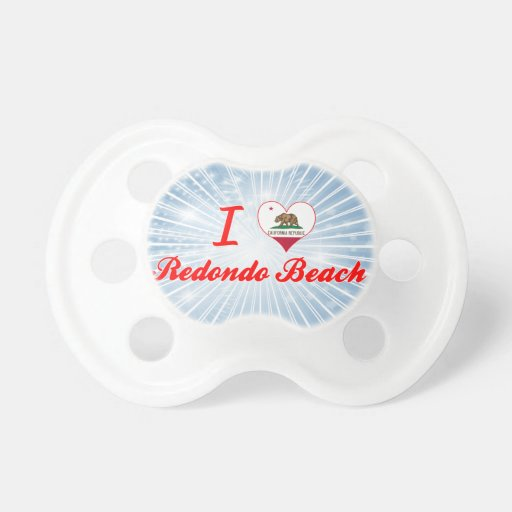 I Love Redondo Beach, California Baby Pacifier