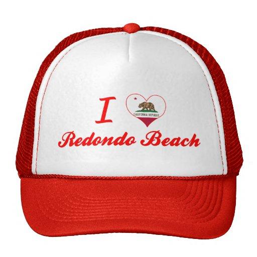 I Love Redondo Beach, California Mesh Hat