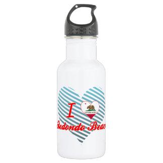 I Love Redondo Beach, California 18oz Water Bottle