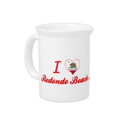 I Love Redondo Beach, California Pitcher