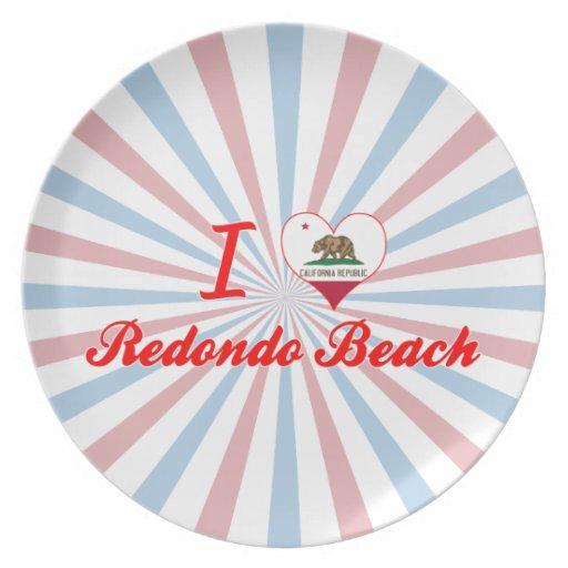I Love Redondo Beach, California Plate