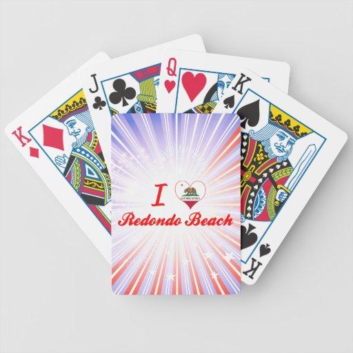 I Love Redondo Beach, California Bicycle Poker Deck