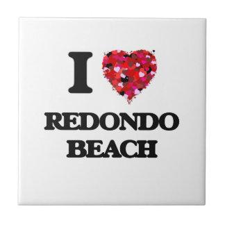 I love Redondo Beach California Small Square Tile