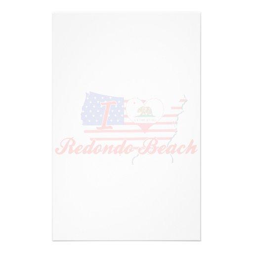 I Love Redondo Beach, California Customized Stationery